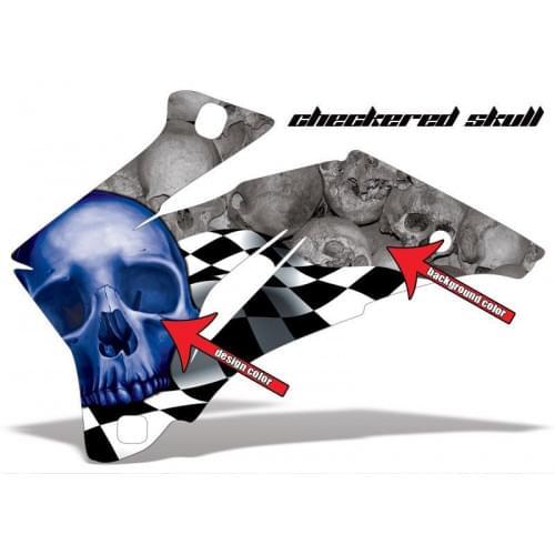 Комплект графики AMR Racing Checkered Skull (ОUTLANDER MAX G1)