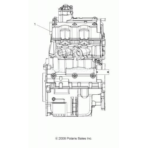 Двигатель оригинальный для Polaris Sportsman 850 XP 2204053